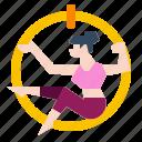 exercise, hoop, recreation, ring, sport