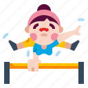 athlete, athletic, bar, exercise, fitness, horizontalbar icon