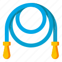 exercise, fitness, jump, rope, skipping icon