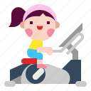 bicycle, bike, exercise, fitness, gym, stationary, workout icon