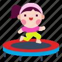 exercise, fitness, jump, sport, trampoline
