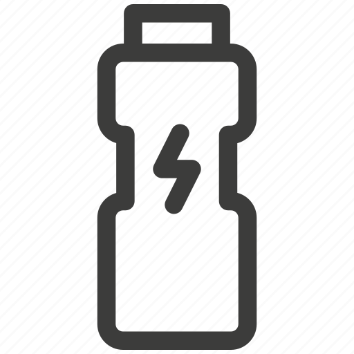 bottle, energy, fitness, power, sport, training, water icon