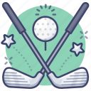 club, driver, golf, hit icon