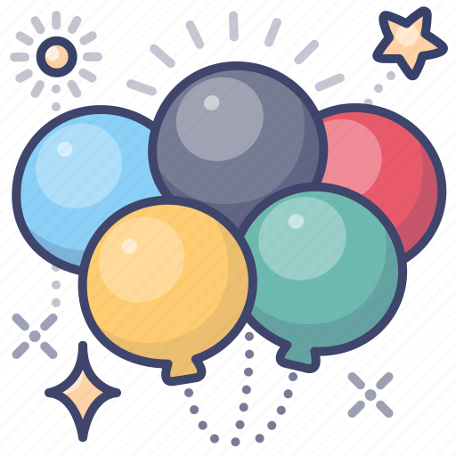 Balloons, celebration, olympics icon - Download on Iconfinder