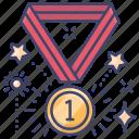 olympics, champion, medal, award