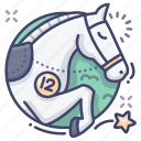 sport, equestrian, horse, jumping icon