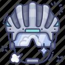 cycling, glasses, helmet, sport