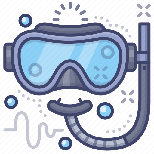 dive, diving, goggles, mask icon