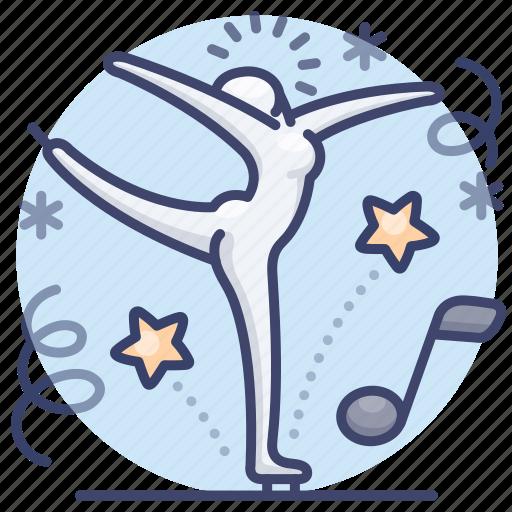 figure, ice, olympic, skating icon