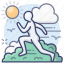 outdoor, run, running, training icon