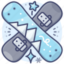 ski, snowboard, sports, winter icon