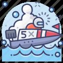 boat, motor, race, speedboat icon