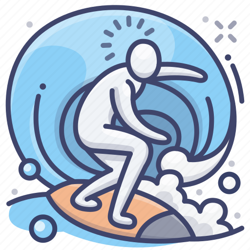 sports, surf, surfing, water icon