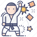 art, karate, martial, taekwondo icon