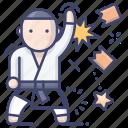 martial, karate, taekwondo, art icon