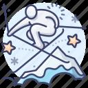 freestyle, olympic, ski, skiing icon