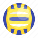 ball, sport, volley, volleyball, volleyball ball icon