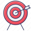 archery, sports, target icon