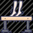balance, beam, gymnastics, olympics icon