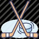 hockey, ice, sport icon
