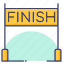 finish, marathon, race, running icon