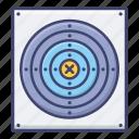 olympics, practice, shooting, target icon