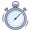 stopwatch, time, timer, timing icon