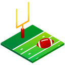 american football, flag football, football, isometric, rugby, sport icon