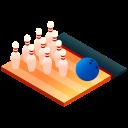 bowling, bowling ball, bowling pins, bowls, isometric, sport icon