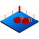 boxer, boxing, boxing glove, fight, fist, isometric, sport icon