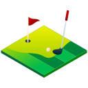 golf, golf ball, golf course, golfing, hole in one, isometric, sport icon