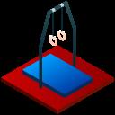 acrobat, acrobatic, athlete, gym, gymnastics, isometric, sport icon