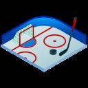 hockey, hockey puck, hockey stick, ice, ice hockey, isometric, sport icon