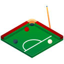 billiard, eight ball, isometric, pool, snooker, sport, table icon