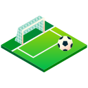 field, goal, isometric, kick, soccer, sport, stadium icon