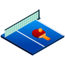 isometric, paddle, ping pong, sport, table, table tennis, tennis icon