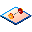 barbell, bodybuilding, gym, isometric, sport, weight, weightlifting icon