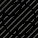 line, sport, tennis ball icon