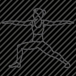 gym, healthy, sport, stretch, woman, yoga icon