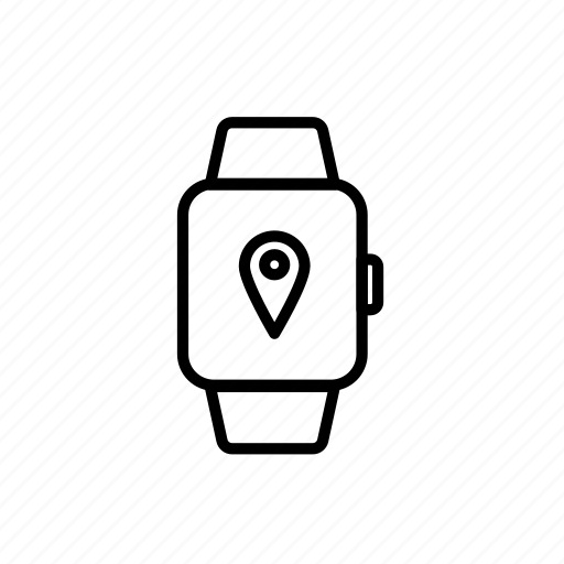 app, fitness, location, navigation, route, sport, watch icon