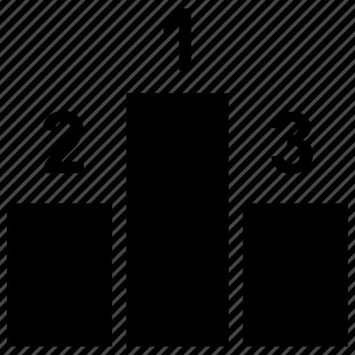 games podium, podium, sports, winning posit icon