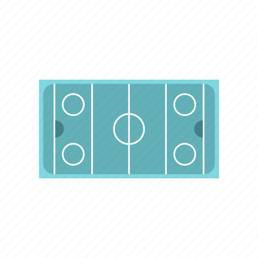 arena, cold, game, hockey, leisure, plan, rink icon