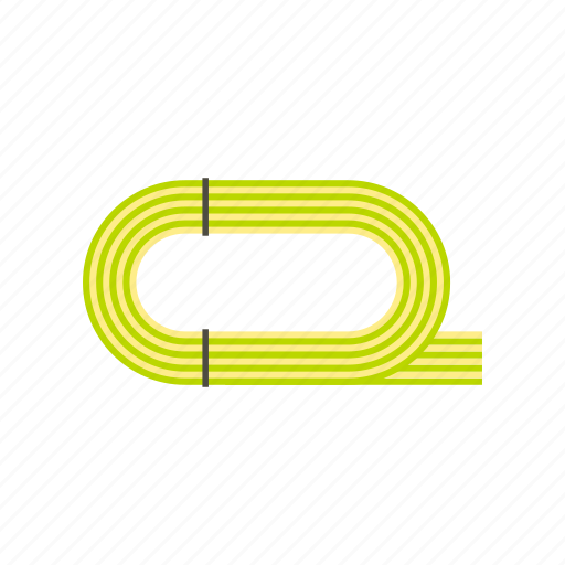 athletic, competition, field, line, sport, stadium, track icon