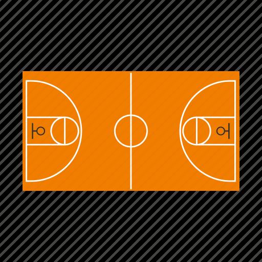basketball, court, field, floor, game, plan, sport icon