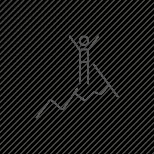 active, climbing, cold, ice, snow, sport, winter icon