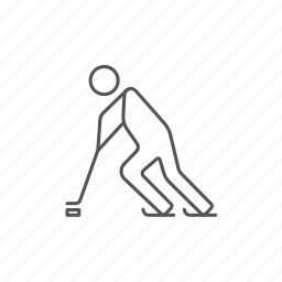 figure, hockey, ice, person, player, shoot, winter icon