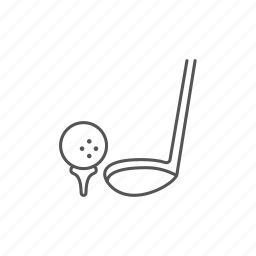 ball, club, golf, hobby, putter, score, shot icon