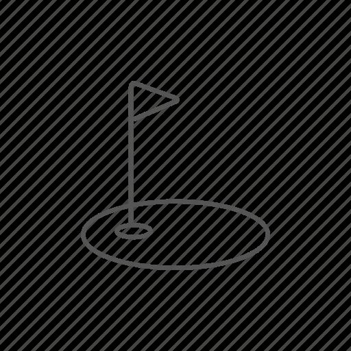 flag, golf, golfing, hobby, hole, recreation, sport icon