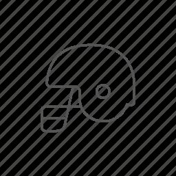 defense, football, helmet, hockey, rugby, uniform icon