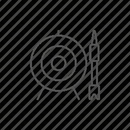 archery, arrow, board, center, goal, strike, target icon